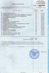 Приложение к диплому. Страница 3
