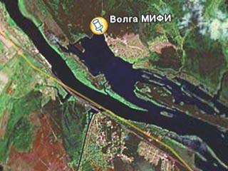 Волга из космоса