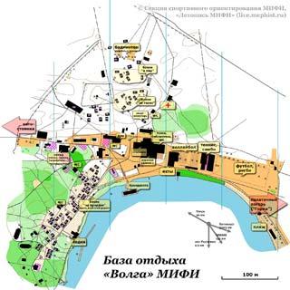 Карта базы отдыха волга МИФИ