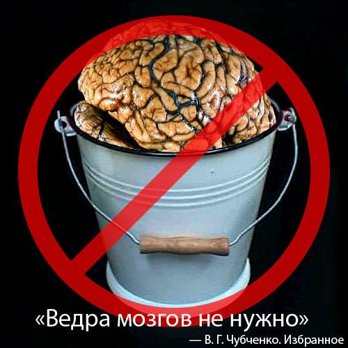Ведра мозгов не нужно